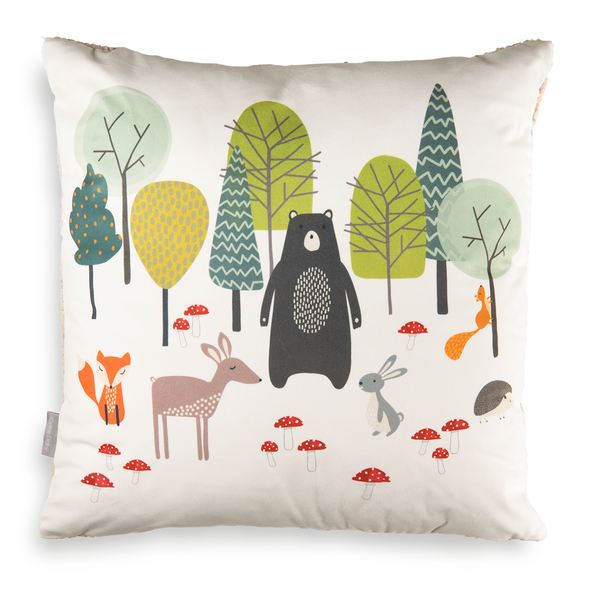 Children's Animal Cushions - Woodland Friends Cream