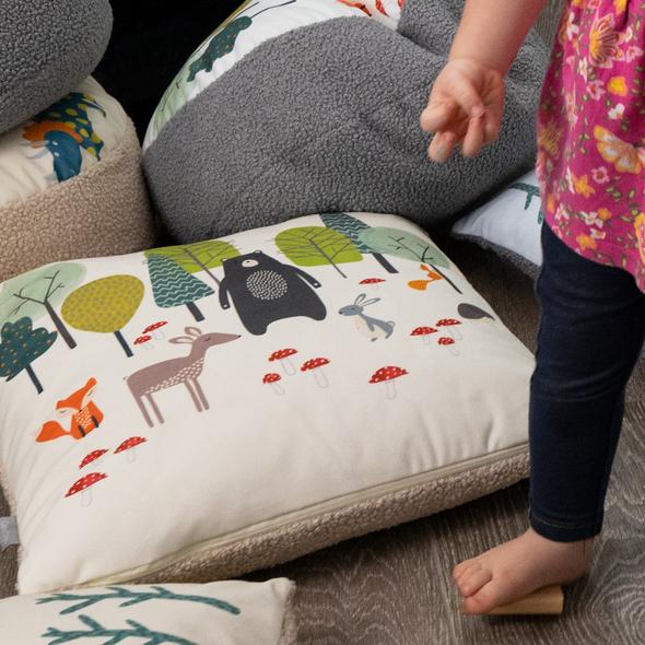 Children's Animal Cushions - Woodland Friends Cream