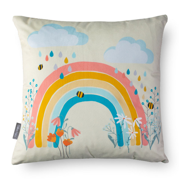 Children's Cushions - Bee a Rainbow Cream