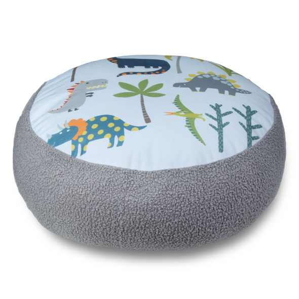Children's Dinosaur Floor Cushion / Beanbag Seat - Dino Days Blue