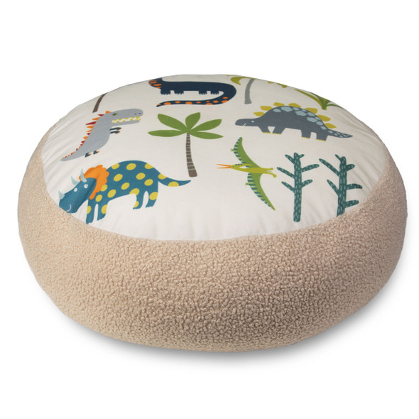 Children's Dinosaur Floor Cushion / Beanbag Seat - Dino Days Cream