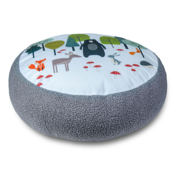 Children's Animal Floor Cushion / Beanbag Seat - Woodland Friends Blue