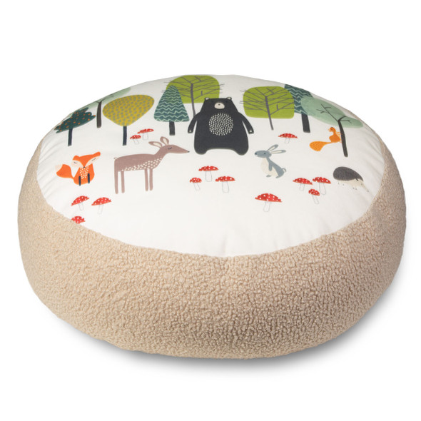 Children's Animal Floor Cushion / Beanbag Seat - Woodland Friends Cream