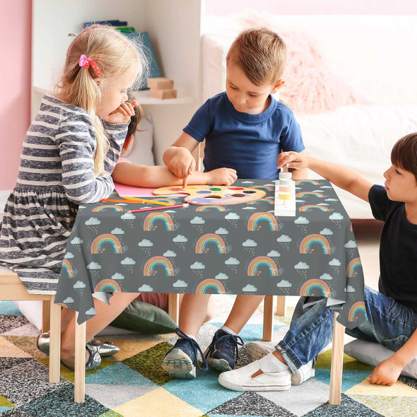 Children's Tablecloths - Bee a Rainbow Grey