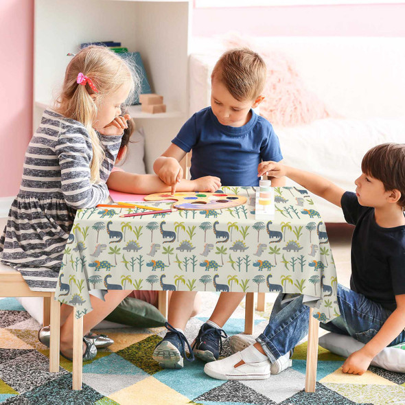 Children's Dinosaur Tablecloths - Dino Days Cream