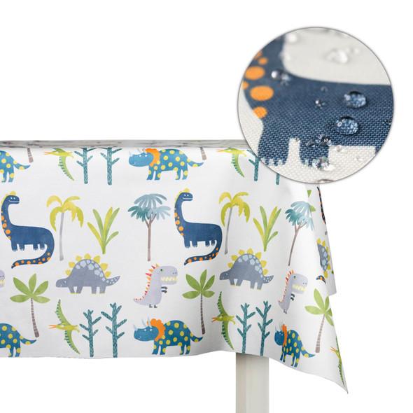 Children's Dinosaur Tablecloths - Dino Days Cream