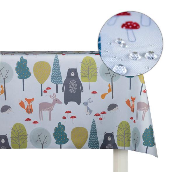 Children's Animal Tablecloths - Woodland Friends Blue