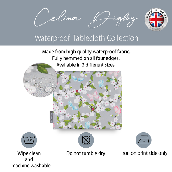 Indoor Tablecloths - Cherry Blossom Grey