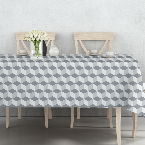 Indoor Tablecloths - Cube Grey