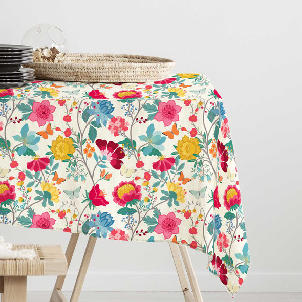 Waterproof Indoor Tablecloth - Midsummer Morning