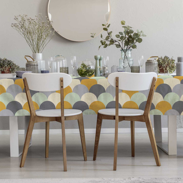 Waterproof Indoor Tablecloth - Scandi Hills Yellow