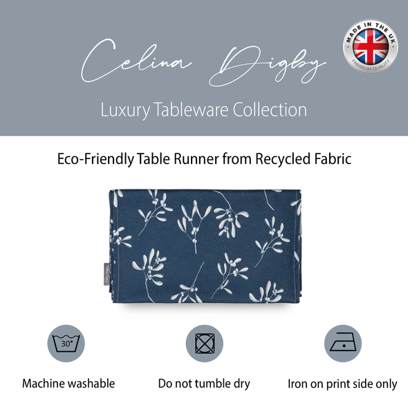 Christmas Table Runners - Mistletoe Navy