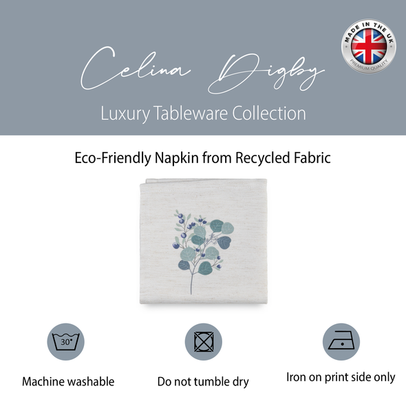 Christmas Napkins - Eucalyptus Garland