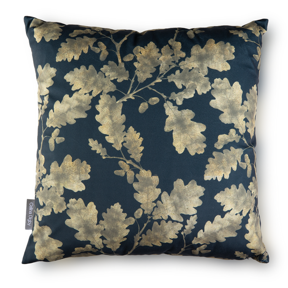 Opulent Velvet Cushion - Golden Oak Grey