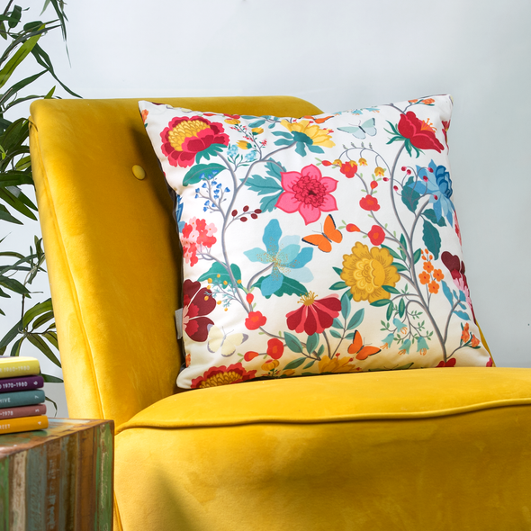Opulent Velvet Cushion - Midsummer Morning