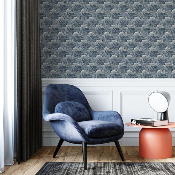 Geometric Wallpaper - Wave Flow