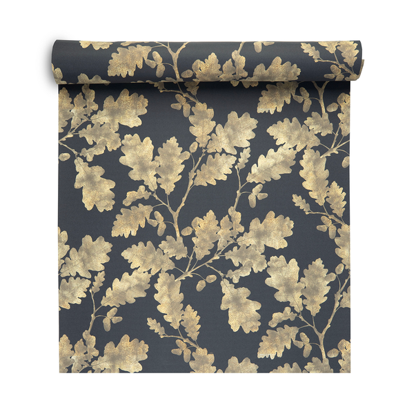 Woodland Wallpaper - Golden Oak Graphite