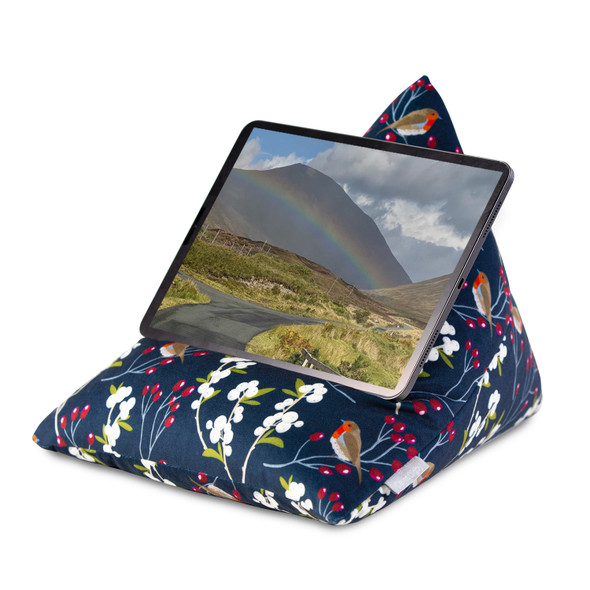 Tablet Beanbag - Robin & Berries Navy