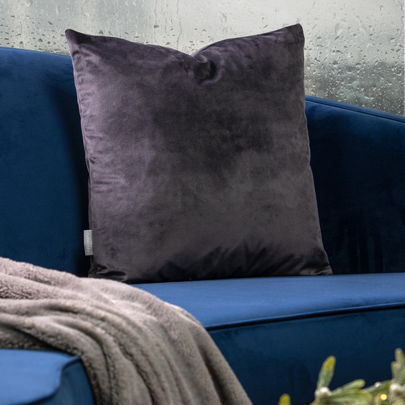Opulent Velvet Cushion - Graphite Grey