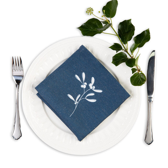 Christmas Napkins - Mistletoe Navy (32cm)