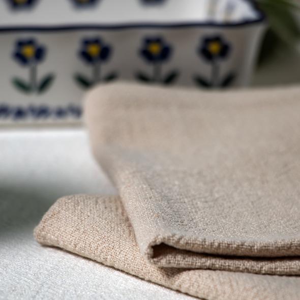 Celina Digby Luxury Stonewashed Linen Napkin Sets (40 x 40cm) - Stone (Beige)