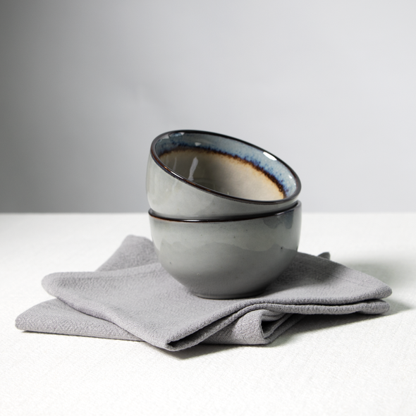 Celina Digby Luxury Stonewashed Linen Napkin Sets (40 x 40cm) - Light Grey