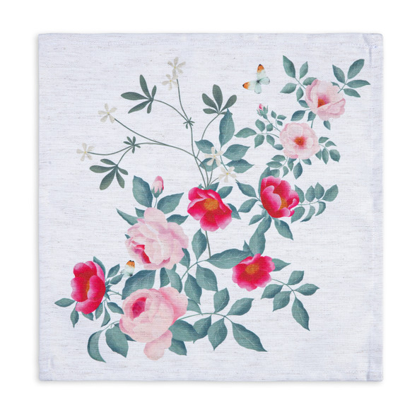 Celina Digby Luxury Eco-Friendly Recycled Fabric Napkin Set - Rose Garden Natural - (40 x 40cm)