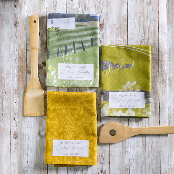 Celina Digby Luxury 100% Cotton Large Kitchen Tea Towel - Set of 3 - English Countryside Range