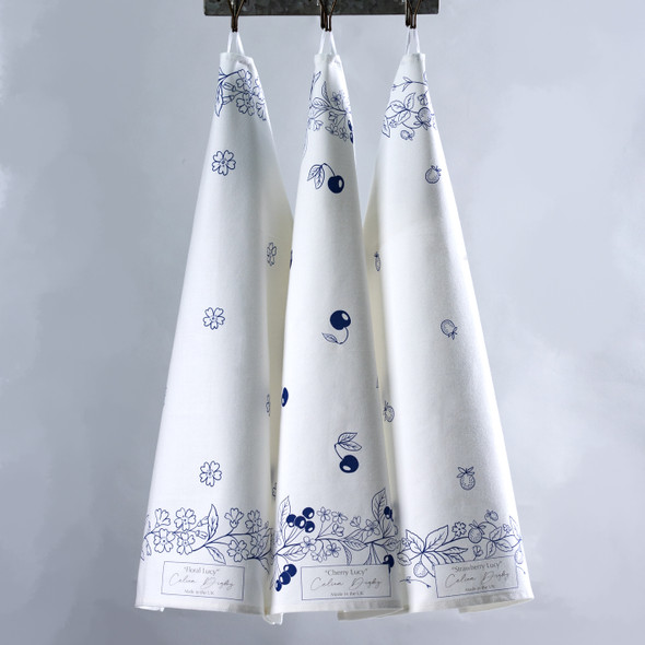 Celina Digby Luxury 100% Cotton Large Kitchen Tea Towel - Set of 3 - Vintage Lucy Range