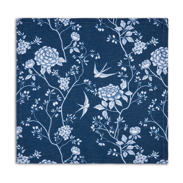 Celina Digby Luxury Eco-Friendly Recycled Fabric Napkin Sets - Cecylia Navy - (40 x 40cm)