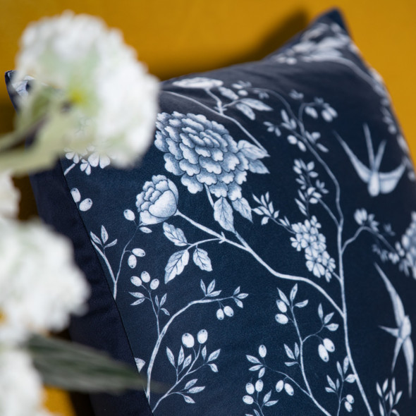 Opulent Velvet Cushion - Cecylia Navy
