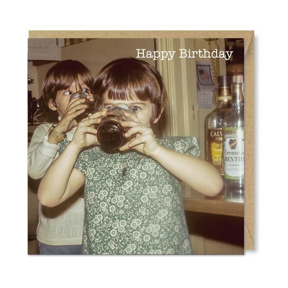 Celina Digby x Honovi Cards - Unique Funny Nostalgic Greeting Card - Drinking Girls
