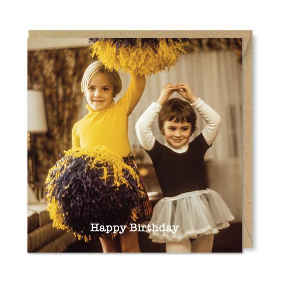 Celina Digby x Honovi Cards - Unique Funny Nostalgic Greeting Card - Pom Poms