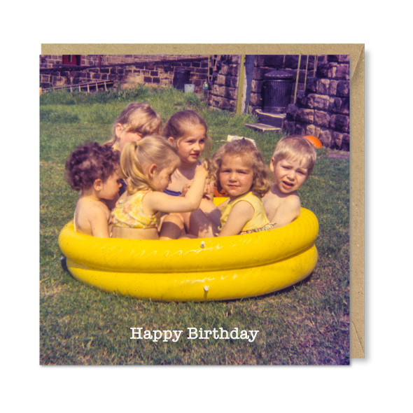 Celina Digby x Honovi Cards - Unique Funny Nostalgic Greeting Card - Hot Tub Party