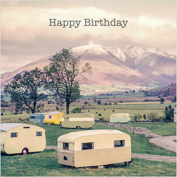 Celina Digby x Honovi Cards - Unique Funny Nostalgic Greeting Card - Caravan Park 1960