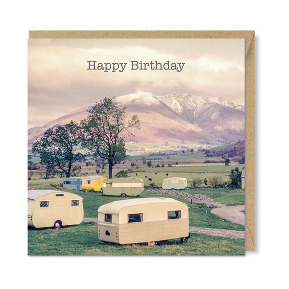 Celina Digby x Honovi Cards - Unique Funny Nostalgic Greeting Card - Caravan Park 1960