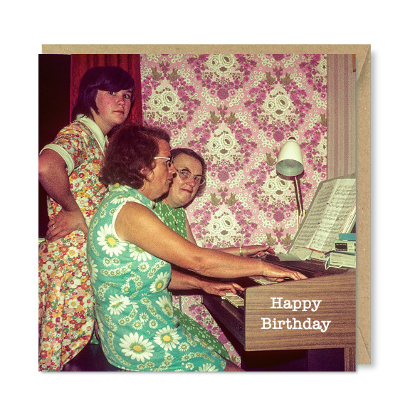 Celina Digby x Honovi Cards - Unique Funny Nostalgic Greeting Card - Organ Party