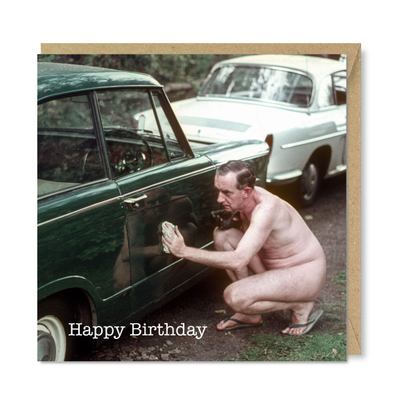 Celina Digby x Honovi Cards - Unique Funny Nostalgic Greeting Card - Buffing In The Buff