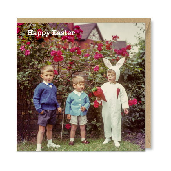 Celina Digby x Honovi Cards - Unique Funny Nostalgic Greeting Card - Easter Bunny