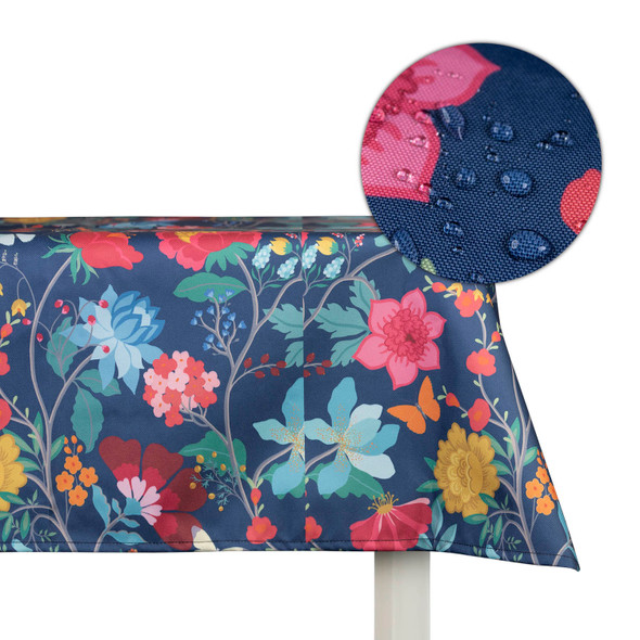 Outdoor Garden Tablecloth AVAILABLE IN 5 SIZES - Optional Centre Hole for Parasol - Midsummer Night
