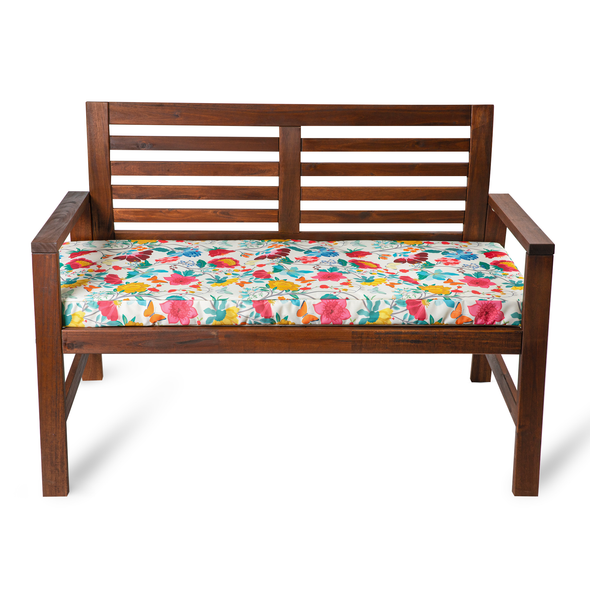Water Resistant Garden Outdoor Bench Seat Pad - Midsummer Morning (Available in 2-Seater or 3-Seater Size)
