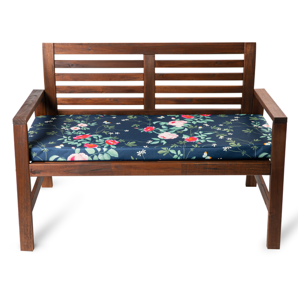 Water Resistant Garden Outdoor Bench Seat Pad - Rose Garden (Available in 2-Seater or 3-Seater Size)