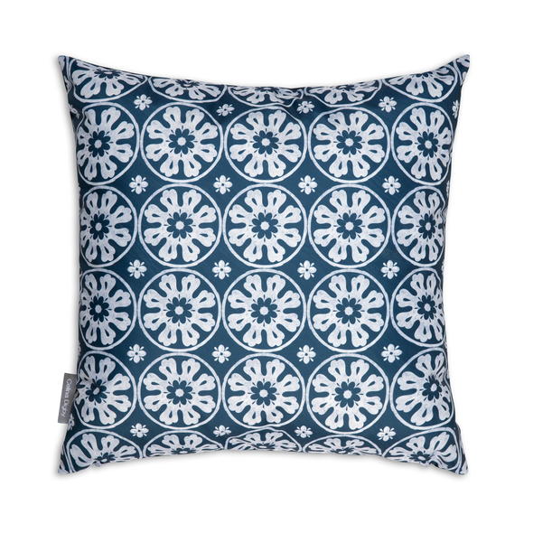 Water Resistant Garden Cushion - Casablanca Navy