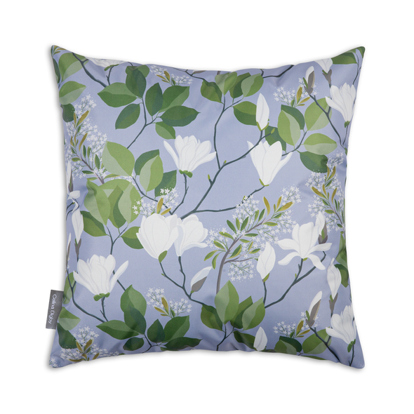 Water Resistant Garden Cushion - Magnolia Lilac/Blue