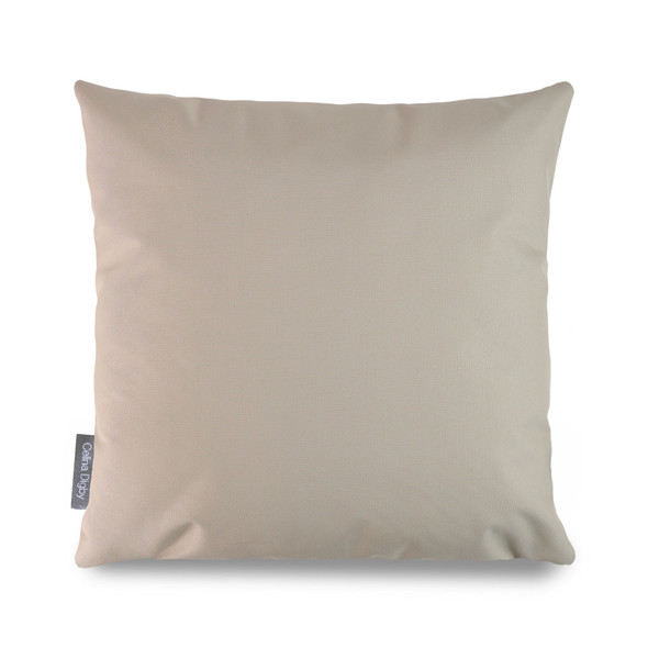 Water Resistant Garden Cushion -  Beige - to Compliment Patterned Cushions