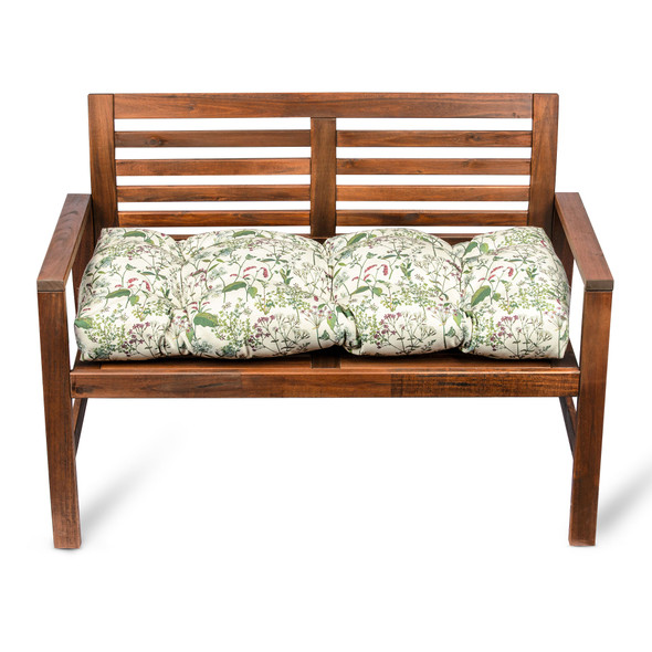 Bench Cushion Seat Pad, Buttoned - 100cm - Welsh Meadow