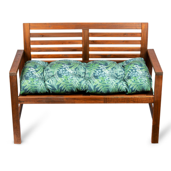 Bench Cushion Seat Pad, Buttoned - 100cm - Ferns