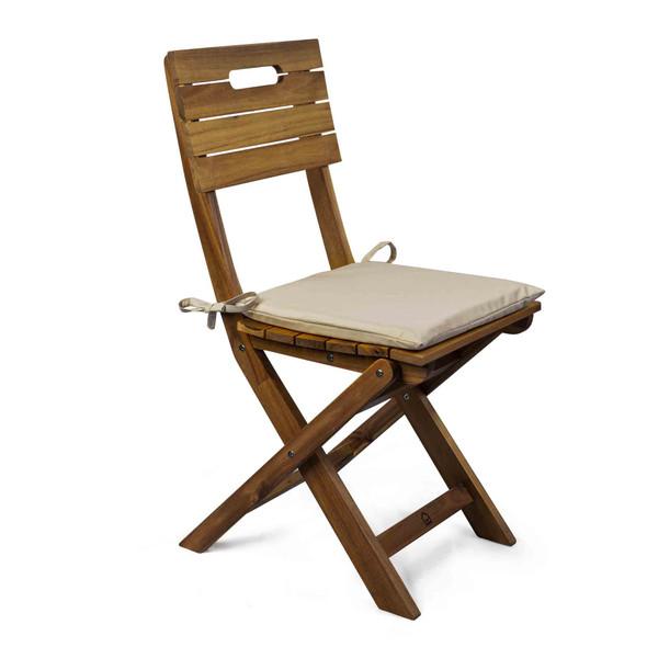 Set of 2 Water Resistant Garden Seat Pads - Beige
