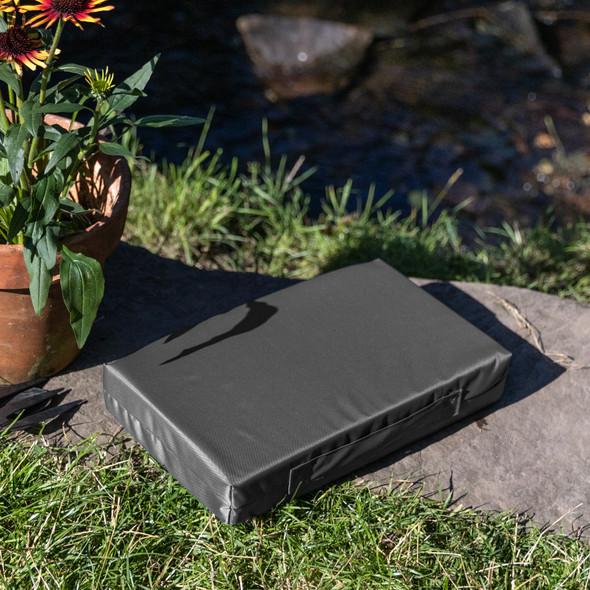 Luxury Garden Kneeler / Kneeling Pad With Handle - Dark Grey