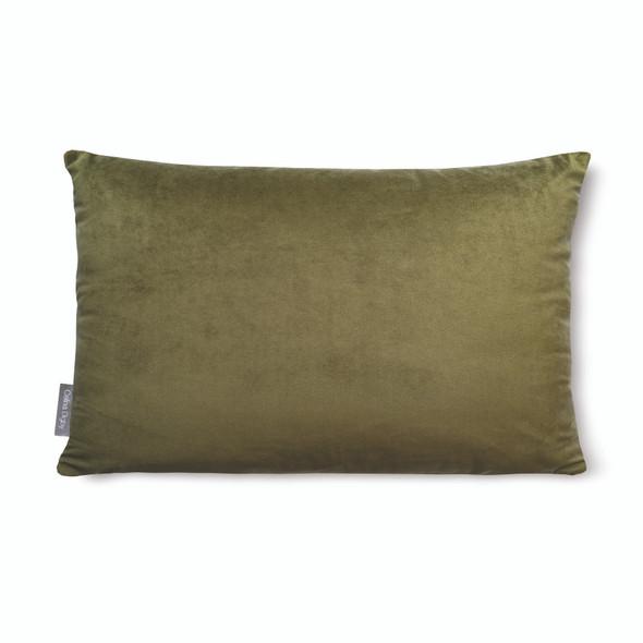 """Opulent Super Soft Velvet Cushion - Olive Green - Rectangular 51cm x 30cm (20"""" x 12"""") Size"""